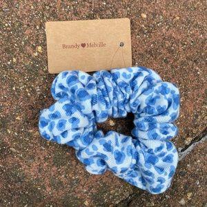 RARE NWT blue cheetah/leopard print scrunchie